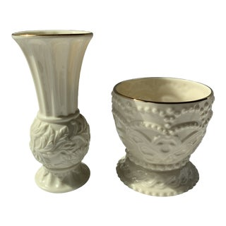 Bud Vase and Dish From Lenox - Set of 2 For Sale