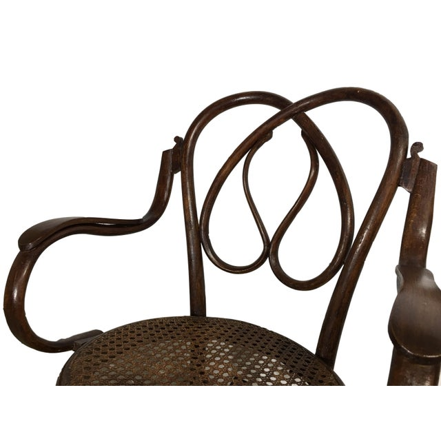 19th Century Bentwood Rocking Chairs in Style of Jacob & Josef - A Pair For Sale - Image 4 of 7