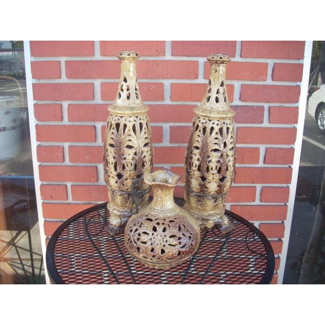 Boho Style Candle Lanterns - Set of 3 - Image 2 of 5