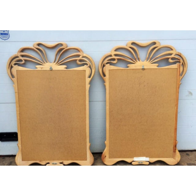 Art Nouveau Carved Wall Mirrors - A Pair - Image 6 of 6