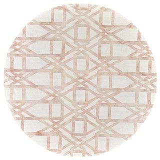 Feizy Lorrain Pink Pattern Rug - 10′ × 10′
