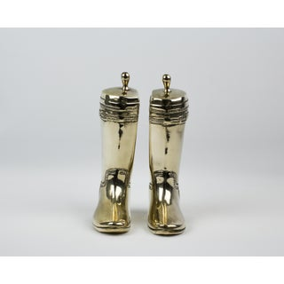 Brass Texan Boot Bookends - A Pair Preview