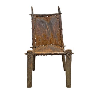 Sculptural Early 20th Century Ethiopian Chair For Sale