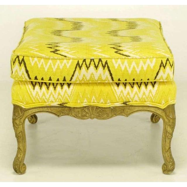 Pair Erwin-Lambeth Louis XV Style Arm Chairs & Ottoman - Image 8 of 10