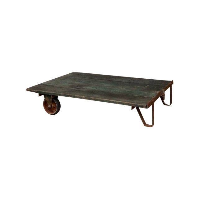 Vintage Railroad Cart Coffee Table For Sale