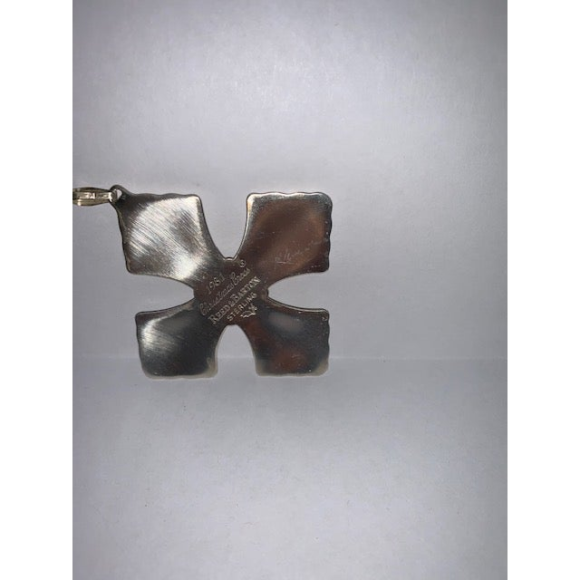 1980s 1981 Reed & Barton Sterling Christmas Cross Limited Edition For Sale - Image 5 of 6