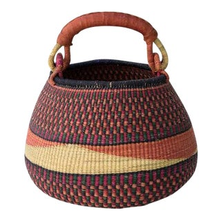 African Basket With Handle For Sale