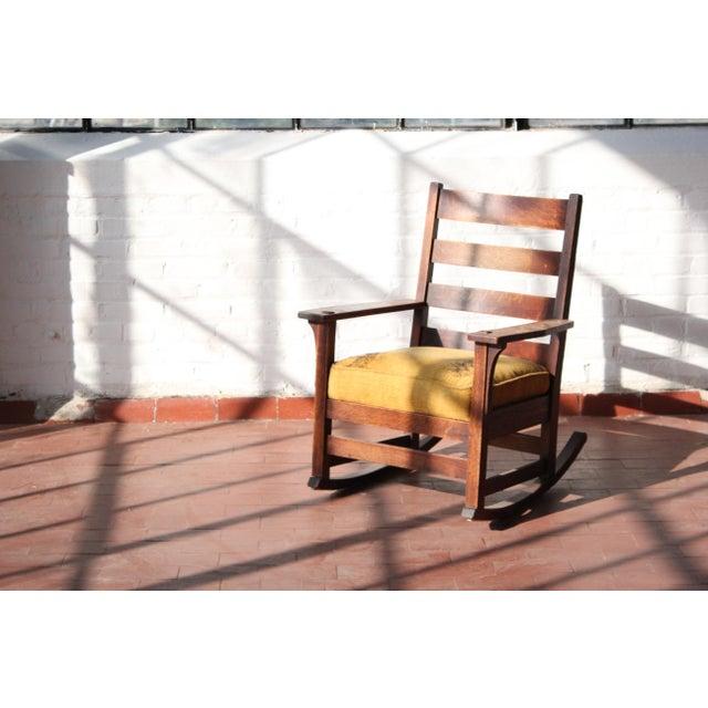 1900s Antique L & Jg Stickley Rocking Chair For Sale - Image 12 of 12