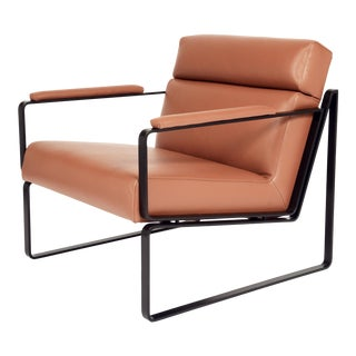 Jesse Tan Leather Club Chair