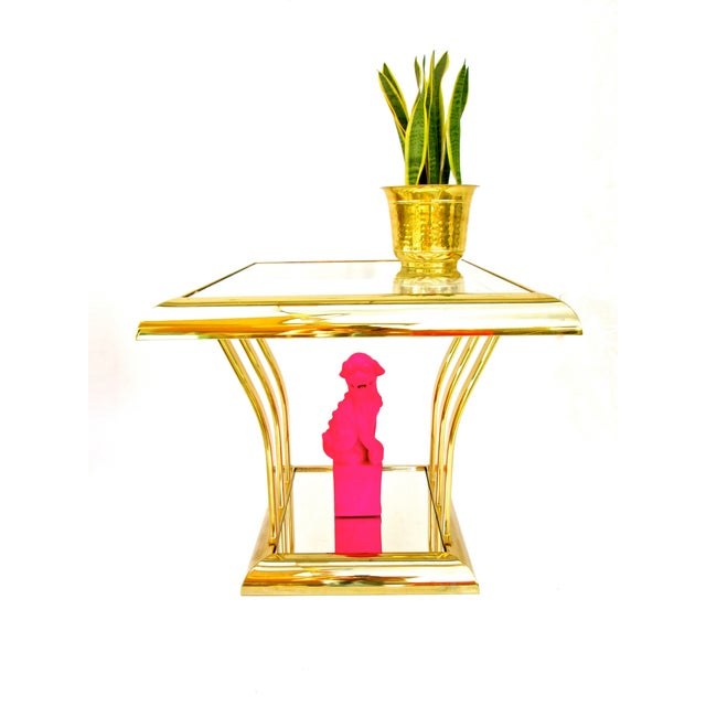 Post-Modern Two-Tier Brass End Tables - A Pair - Image 5 of 8