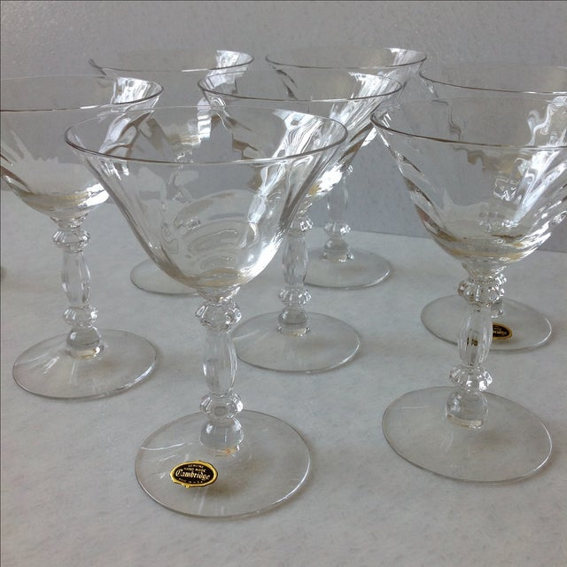 Cambridge Optic Crystal Cocktail Stemware For Sale - Image 10 of 11