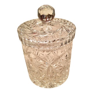 Hand Cut Crystal Covered Jar