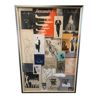 1920s-1930s Mostly Hand Drawn and Painted Advertising Works in Collage For Sale