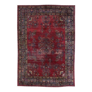 Distressed Antique Kerman Persian Rug with Traditional Modern Style