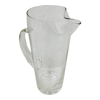Vintage Glass Cocktail Pitcher For Sale