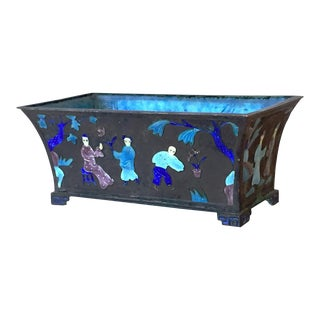 Chinese Metalwork Enamel Planter