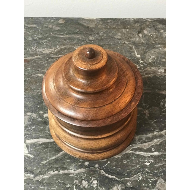 Late 19th Century Wooden Tobacco Jar From Late 19th Century Belgium For Sale - Image 5 of 7