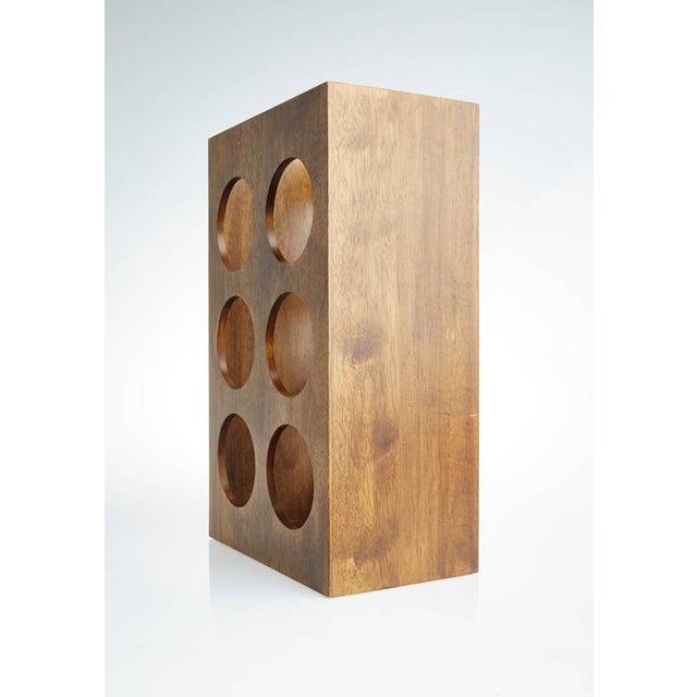 Sculptural Modern Walnut Magazine Rack - Image 6 of 6