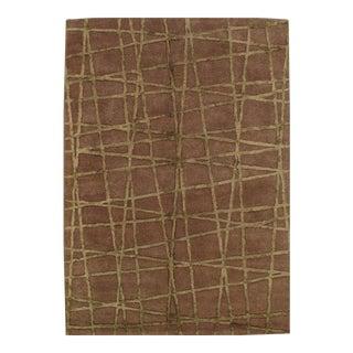 "Pasargad Ny Modern Handmade Hand Tufted Area Rug - 5'3"" X 7'5"" For Sale"
