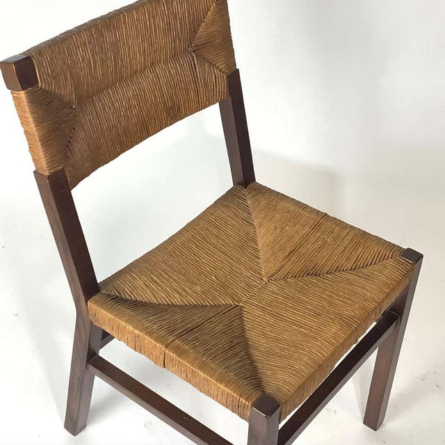 Stunning early French chairs in very nice condition. All rush is tightly woven and strong.