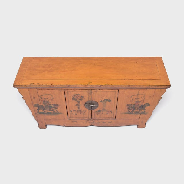 Gold Qilin Painted Coffer For Sale - Image 8 of 10