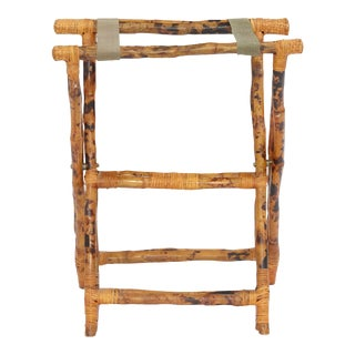 Luggage Stand, Brown, Rattan For Sale
