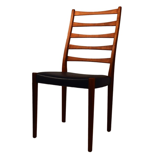 Set Of 4 Teak Ladder Back Chairs By Svegards - Image 5 of 10