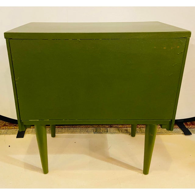 Mid Century Modern Two Tone Nightstands - a Pair For Sale - Image 10 of 13
