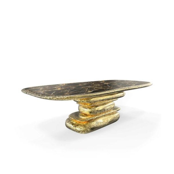Art Deco Stonehenge Dining Table From Covet Paris For Sale - Image 3 of 3