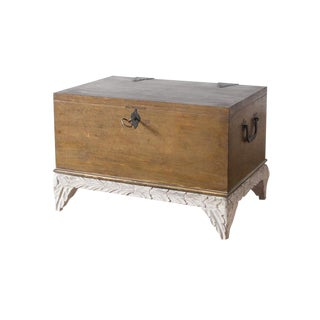 Rustic Style Gilded Chest For Sale