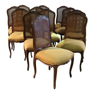 French Country Dining Side Chairs - Set of 12 For Sale