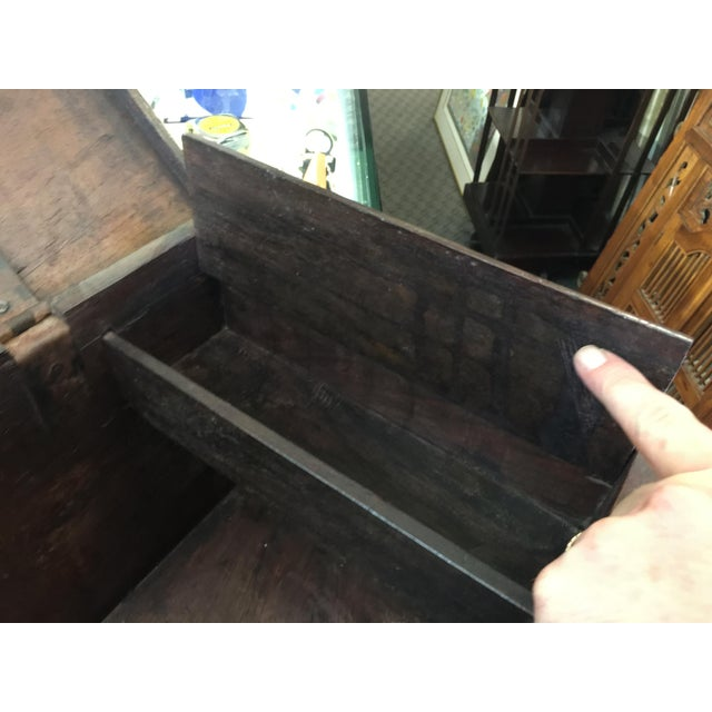 1900s Antique Strong Box With Iron Straps For Sale - Image 5 of 8