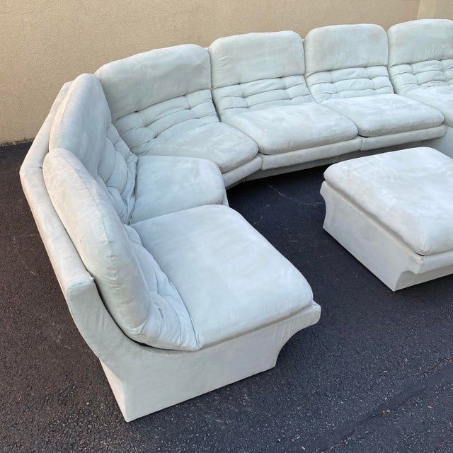Textile Vladimir Kagan for Preview 7 Piece Modular Sectional For Sale - Image 7 of 13