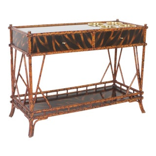 Faux Tortoiseshell Babmoo Wine Server or Console For Sale