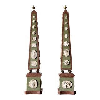 Pair of Neoclassical Obelisks For Sale