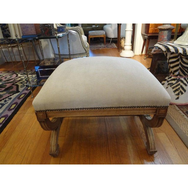 Gothic 19th Century French Louis XVI Style Bench or Ottoman For Sale - Image 3 of 11