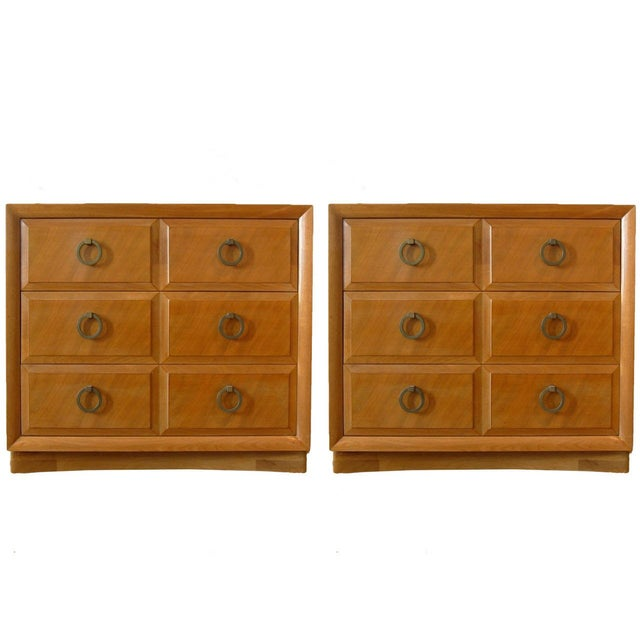 Robsjohn-Gibbings for John Widdicomb Mahogany 3 Drawer Chests or Commodes - a Pair For Sale In New York - Image 6 of 6