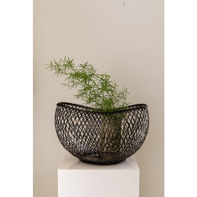 Japanese Style Bamboo Basket For Sale - Image 4 of 5