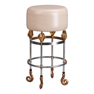 Armory Tall Putty Bar Stool For Sale