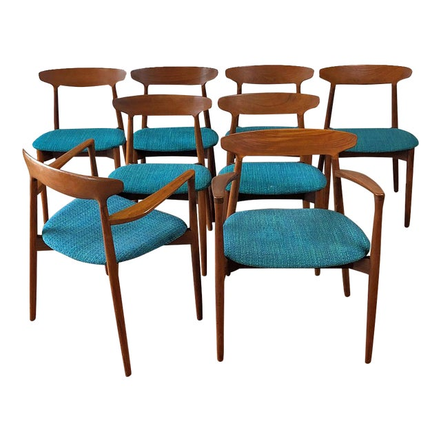 1960s Harry Østergaard for Randers Møbelfabrik Dining Chairs - Set of 8 For Sale