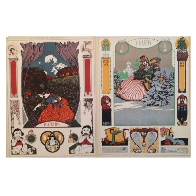 German Decorator Prints C1900 - Fall/Winter S/2 For Sale