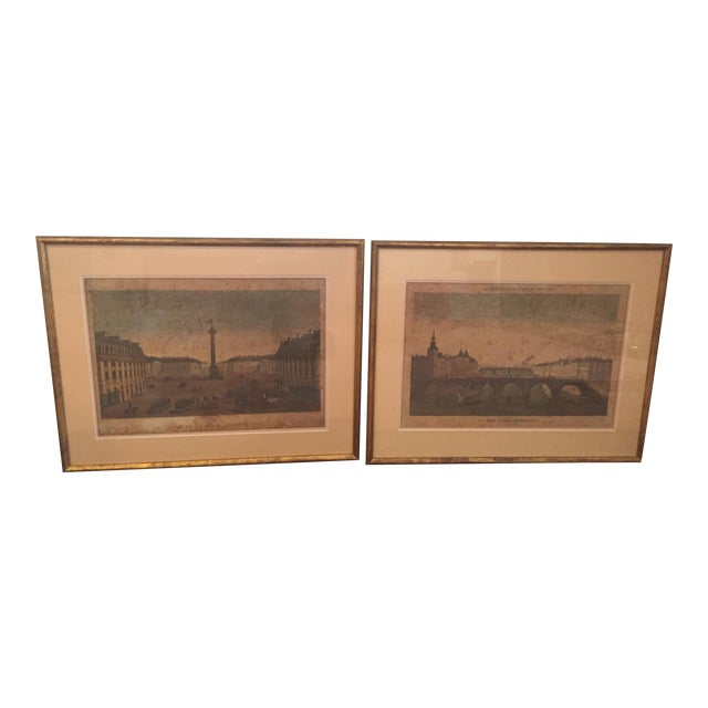 1830's French Prints, Louis Philippe Frame - Pair - Image 1 of 8
