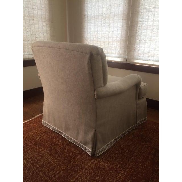 Classic Patricia Edwards Custom Chair & Ottoman Set - Image 8 of 8