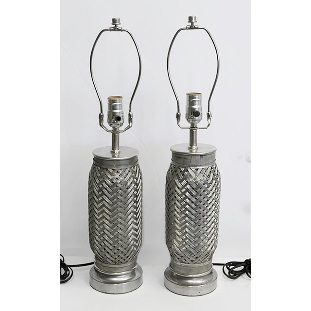 1970s Rocket Component Lamps - Pair For Sale - Image 5 of 5