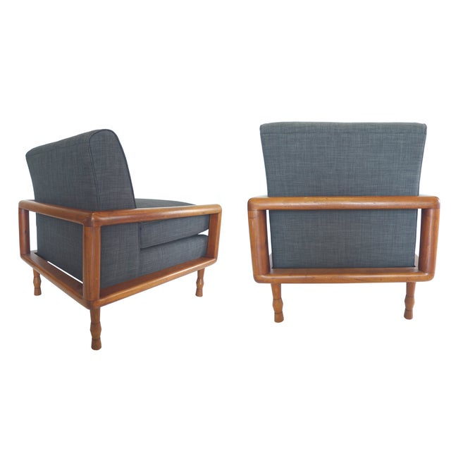 In the Style of T.H. Robsjohn-Gibbings Mid-Century Sofa & Armchair Set - Image 8 of 9