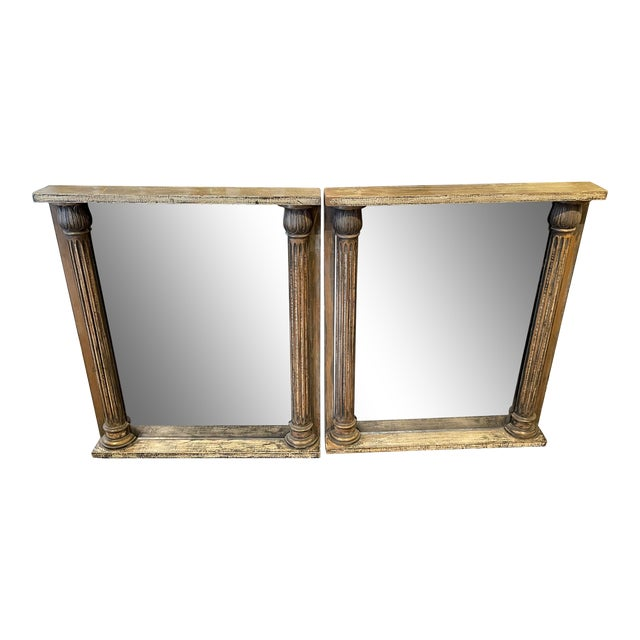 1930s Smoked Glass Mirrors- a Pair For Sale