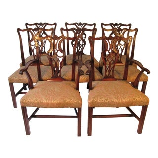 Mahogany Dining Chairs - Set of 8 For Sale