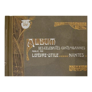 Complete Album Vintage French Biscuits LU Postcards, 1905 For Sale
