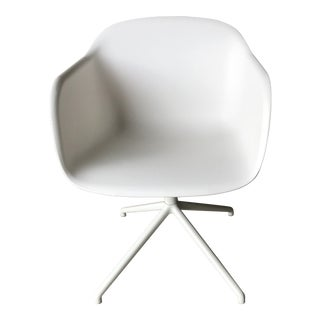Muuto White Swivel Base Fiber Armchair
