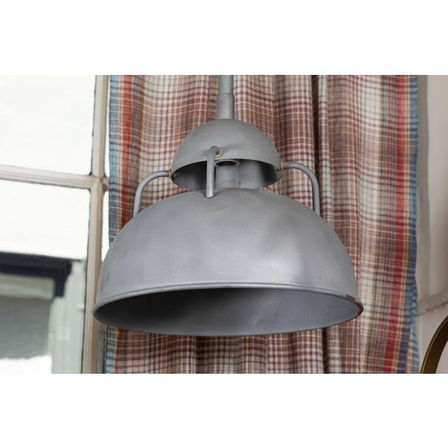Mid 20th Century Vintage Industrial Pendant Lamps - a Pair For Sale - Image 5 of 6